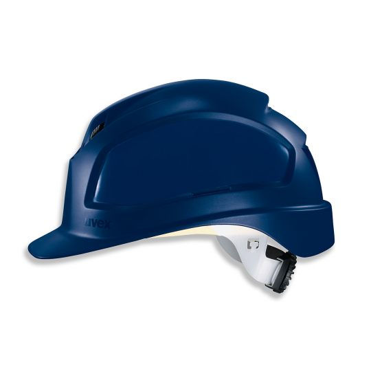 Casque de protection chantier UVEX bleu