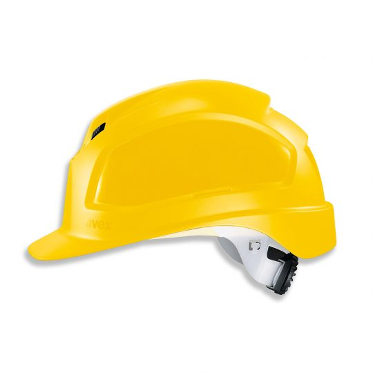 Casque de protection chantier UVEX jaune