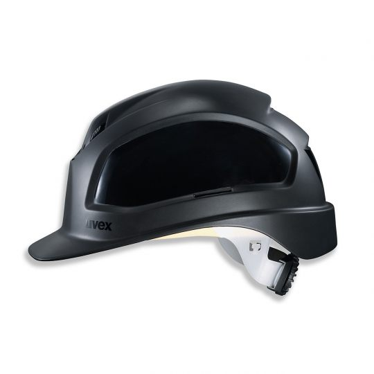 Casque de protection chantier UVEX noir