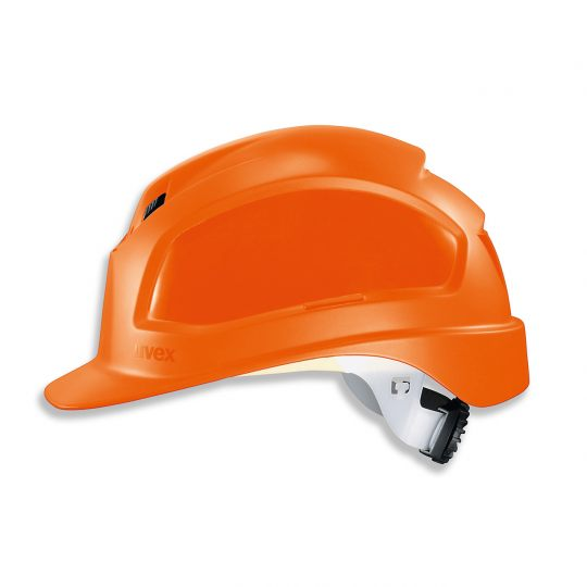 Casque de protection chantier UVEX orange