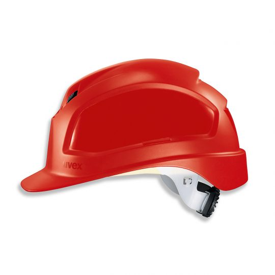 Casque de protection chantier UVEX rouge