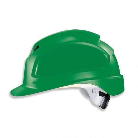 Casque de protection chantier UVEX vert