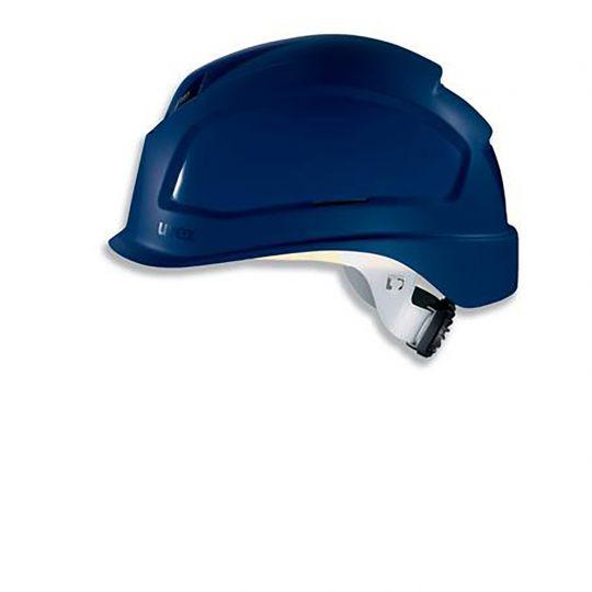Casque court UVEX ajustement crémaillère bleu marine