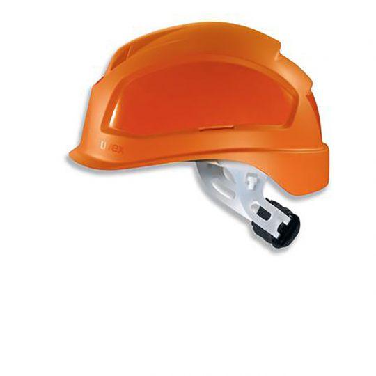 Casque court UVEX ajustement crémaillère orange
