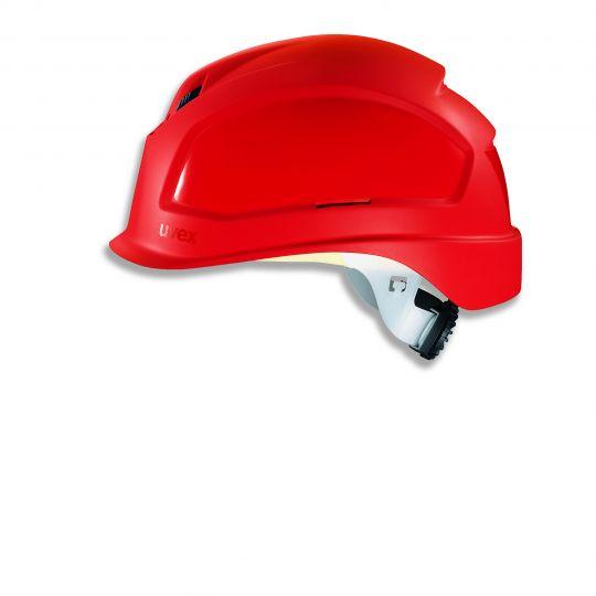 Casque court UVEX ajustement crémaillère rouge